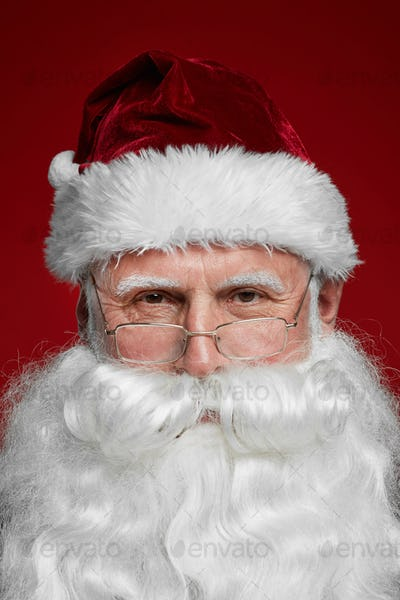 Santa Claus with white beard