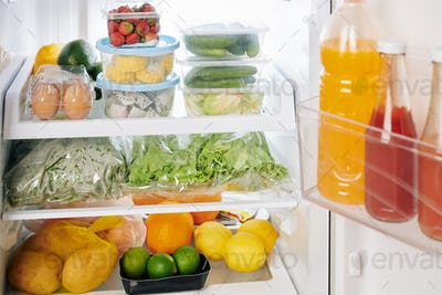 Full refrigerator after groceries delivery