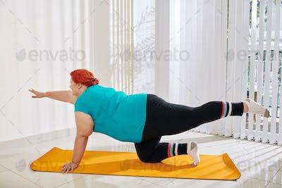 Stabilizing core exercise