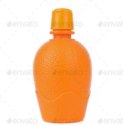 Orange Juice Concentrate in a Plastic Bottle