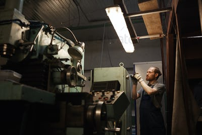 Technician in the factory