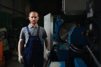 Technician in the plant