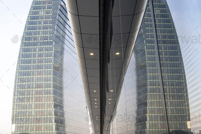 Modern Libeskind tower at Citylife, Milan