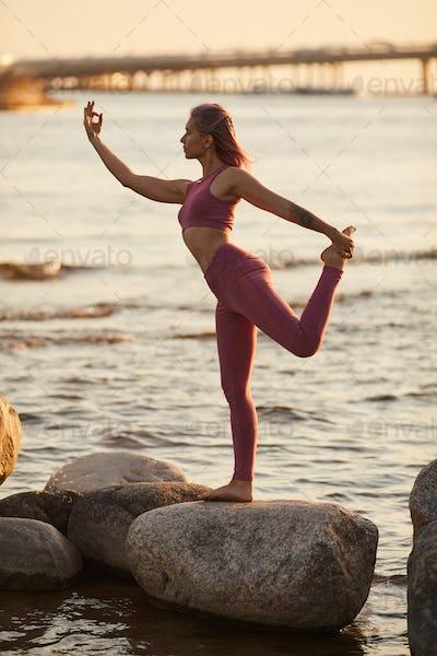 Sea nature and yoga