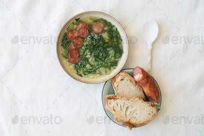 Caldo Verde. Traditional Portuguese Soup
