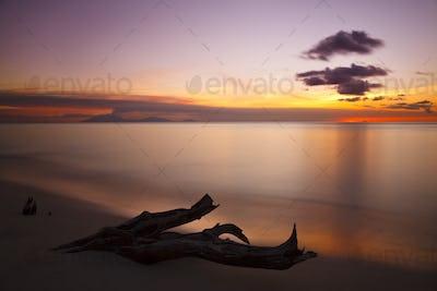 Spectacular Sunset Close To Montserrat, Antigua