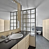 Interiors of a Modern Bathroom in the Attic