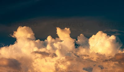 Beautiful blue sky with clouds background