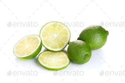 Fresh lime fruit isolated