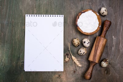 Baking concept with rolling pin