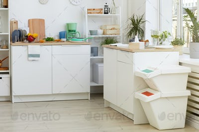 White kitchen at the house