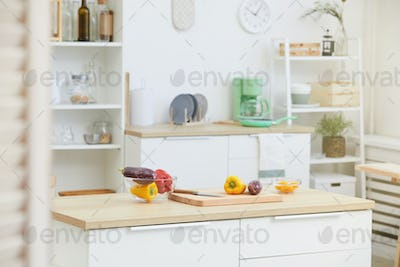Kitchen table with cutting board