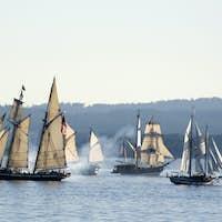 Sea Ships Battle, Victoria, BC, Canada