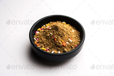 Indian mouth freshener Mukhwas or Masala Supari with basic ingredients