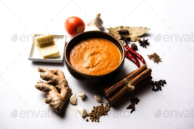 North Indian basic Curry ingredients for butter masala