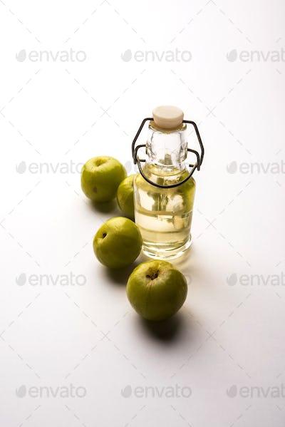 ndian gooseberry or Phyllanthus emblica extract oil or Ayurvedic Amla oil