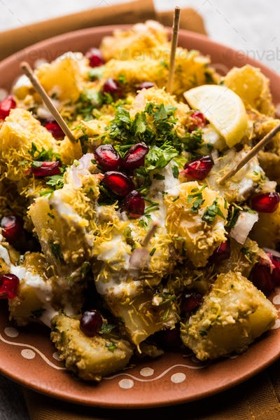 Potato spicy snacks called Aloo chaat