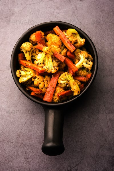 Indian Carrots cauliflowers pickle