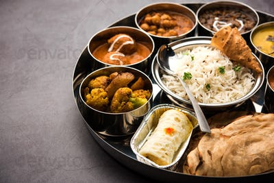 Indian Food Thali or platter