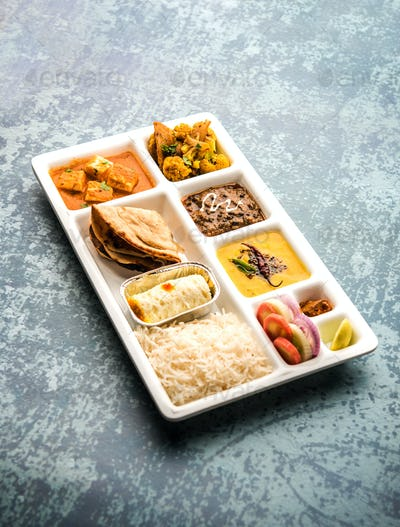 Indian Vegetarian Food Platter