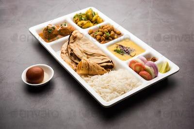 Indian Vegetarian Food Platter