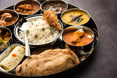 Indian Food Thali or Platter