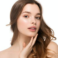 Teeth smile beauty female face woman healthy skin care natural make up fashion young spa model