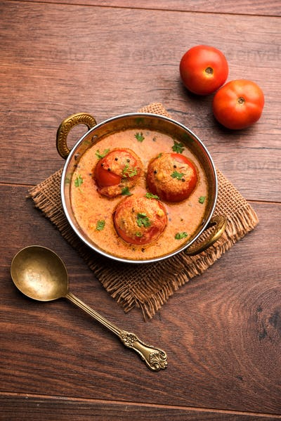 Tomato Salan or Tamatar sabzi or curry