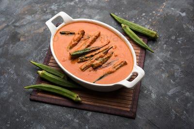 Hyderabadi Bhindi ka Salan or Okra salan, Indian food