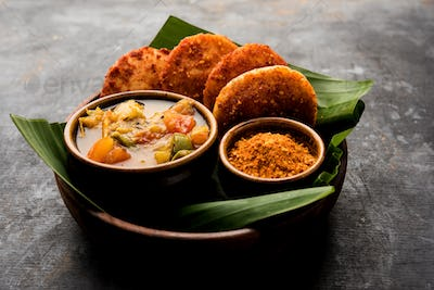 Podi idli is a quick and easy snack made with leftover idly