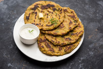 Thalipeeth is a type of savoury multi-grain pancake from India