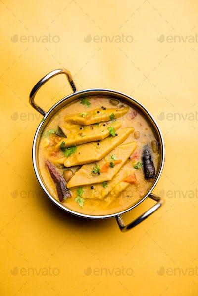 Dal Dhokli, Varan Phal or Chakolya is a tasty Indian food