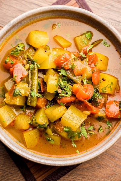 Indian style bottle gourd curry