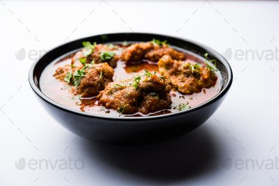 Indian recipe Lauki Kofta Curry made using Bottle Gourd or Doodhi