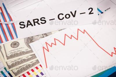 Inscription Sars-CoV-2, currencies dollar
