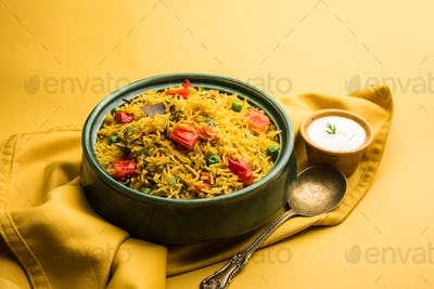 Indian Style Tomato Rice known as Tamatar Pilaf or pulav