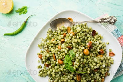 Hariyali sabudana khichdi is an Indian Fasting recipe