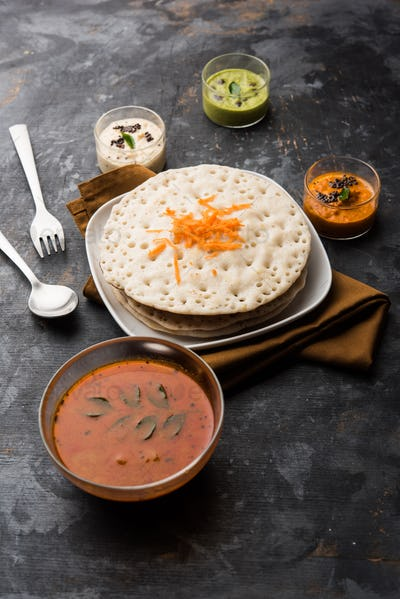 Set Dosa or Oothappam style dosa is a popular south Indian food