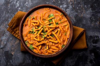 Indian Dhaba style Sev bhaji, sabzi, curry