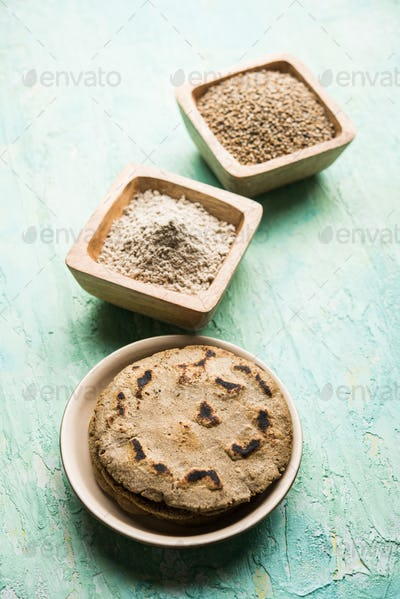 Indian Bajra roti also known as pearl millet flat bread