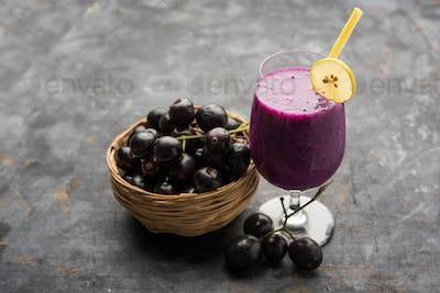 Java plum or Jamun Juice