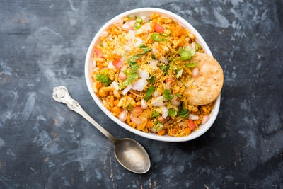 Bhelpuri Chaat or chat is a road side tasty food from India