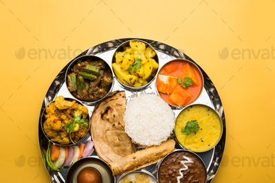 Veg Thali or Food Platter