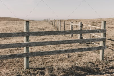 Fence and fields, pasture and farmland