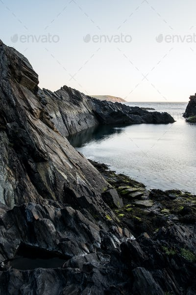 Cliff on the Pembrokeshire Coast, Wales, UK.