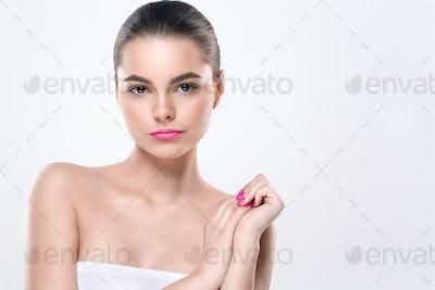 Cosmetic Concept Woman Portrait Healthy Beauty Skin