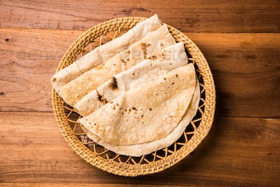 Chapati or Indian flatbread