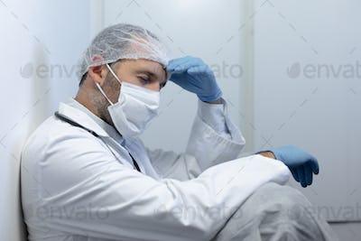 Healthcare worker during coronavirus covid19 pandemic