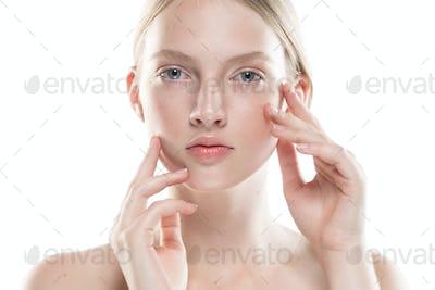 Clean Skin Woman Face Pure Skin Clean Natural Make Up
