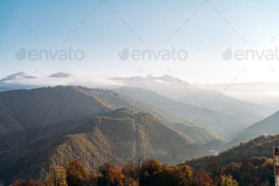 Charming views over the years. Beautiful view of the mountain landscape. Beautiful mountains and sky